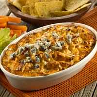 Creamy Buffalo Onion Dip