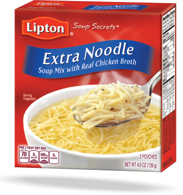 Extra Noodle – Soup Mix with Real Chicken Broth